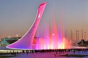 Фонтан Олимпийский парк Сочи